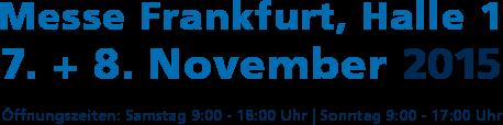 Perspektiven mit Power: 07. + 08. November 2015 Messe Frankfurt, Halle 1